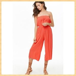 New Forever21 Coral Jumpsuit